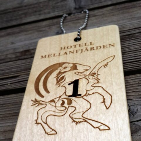 Placebrand Hotel key special design for Hotell mellanfjärden