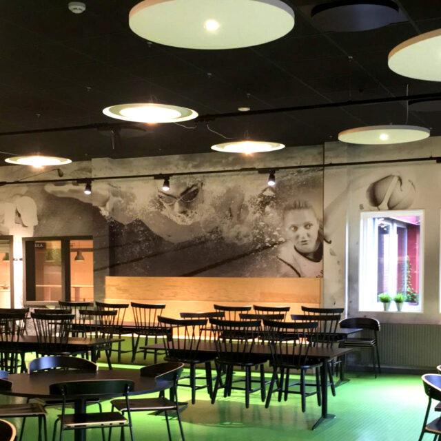 Backwall wallpaper Filbornaskolan Helsingborg