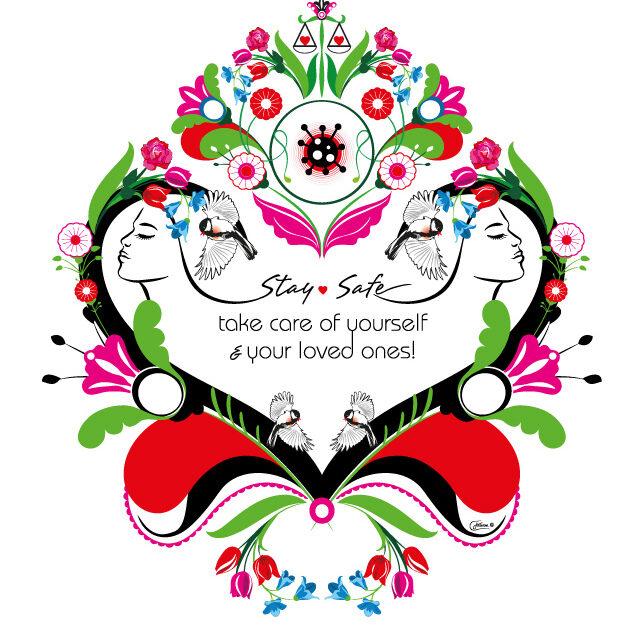 Fight corona kurbits illustration