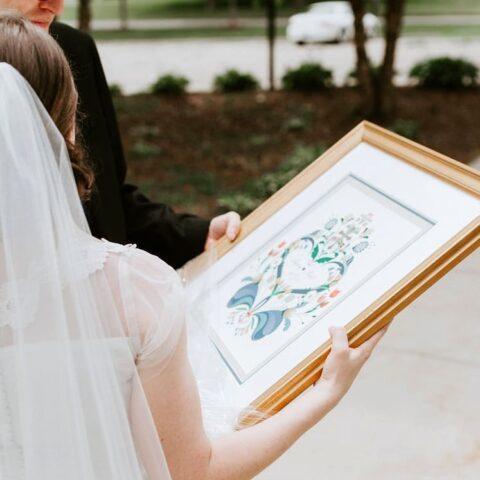 Personal wedding Kurbits artwork