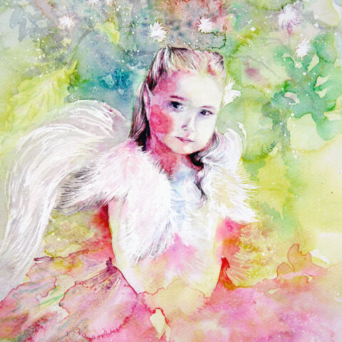 Art_aquarelle portrait_angel